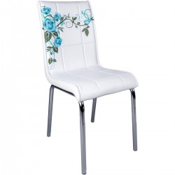 Blue Rose Pattern Monopet Economic Chair Quality