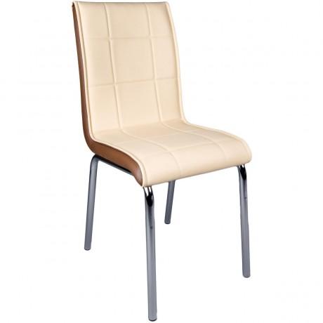 Monopetli Krem Metal Ayaklı Ekonomik Mutfak Sandalyesi Mobilyası - kris24