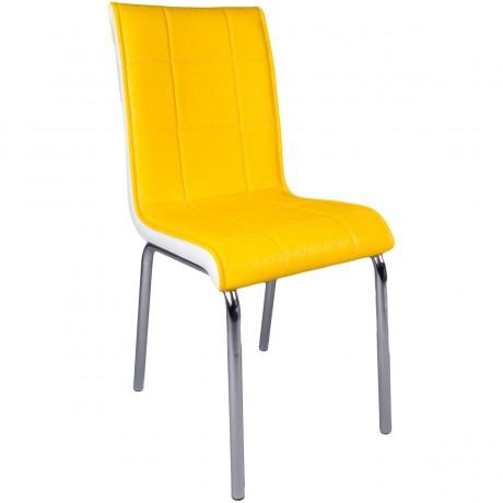 Sarı Metal Ayaklı Sandalye - kris8