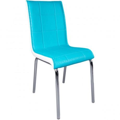 Turkuaz Metal Ayaklı Ucuz Sandalye - kris11