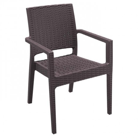 Brown Injection Rattan Garden Chair - tpk9903
