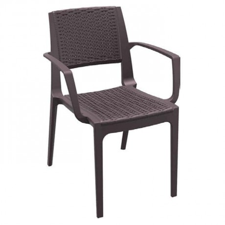 Brown Injection Restaurant Arm Chair - tpk9904