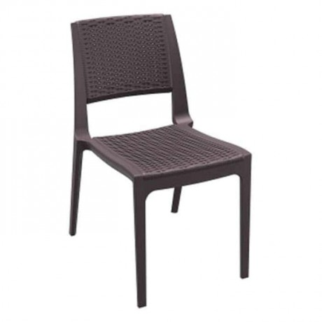 Brown Rattan Injection Cafe Chair - tpk9902