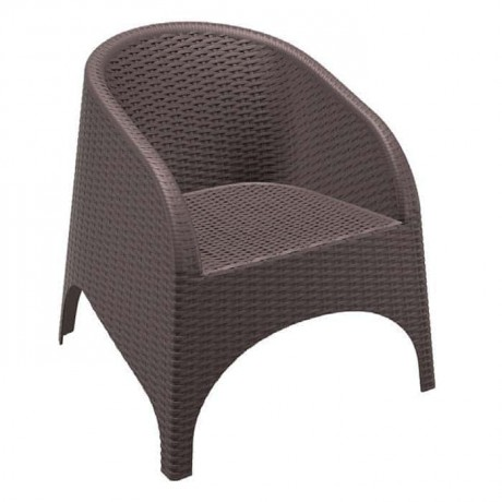 Brown Rattan Injected Cafe Chair - tpk9898