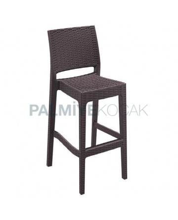 Rattan Injection Brown Bar Chair