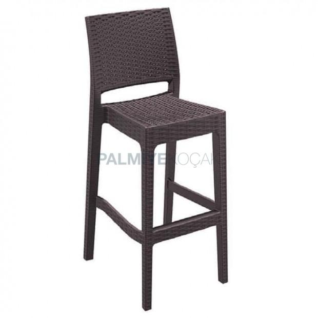 Rattan Injection Brown Bar Chair