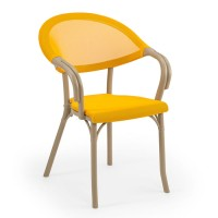 Fileli İç İçe Geçebilen Plastik Enjeksiyon Cafe Restoran Havuz Villa Sandalyesi