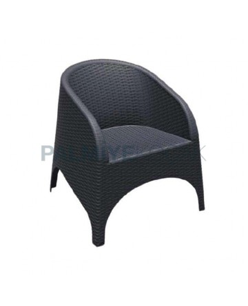 Garden Arm Chair with Black Injection