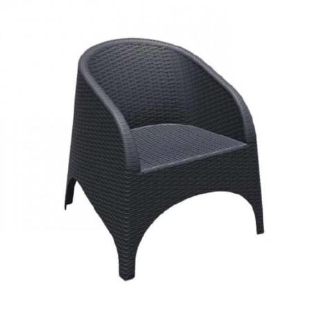 Siyah Enjeksiyon Kollu Bahçe Sandalyesi - tpk9905