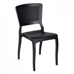 Black Rattan Injection Hotel Restaurant Chair