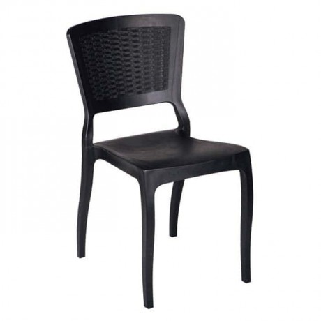 Black Rattan Injection Hotel Restaurant Chair - tps9790
