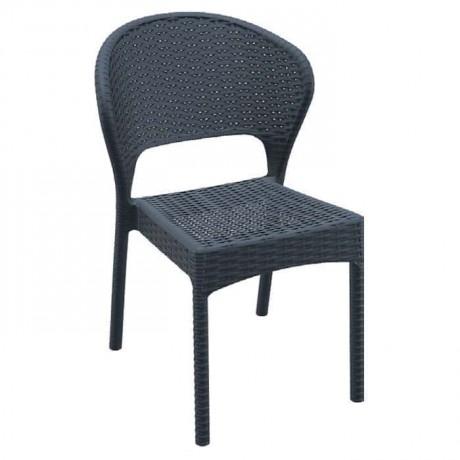 Siyah Renkli Rattan Enjeksiyon Sandalye - tpk9896