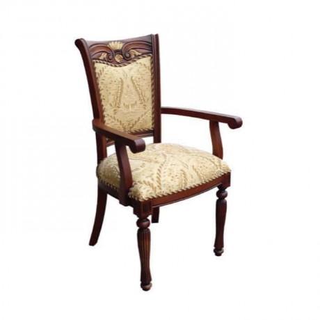 Eskitme Boyalı Klasik Kollu Sandalye - ksak04