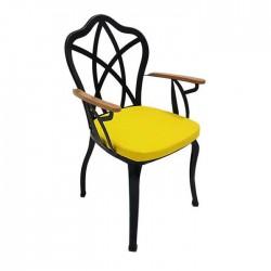 Black Painted Restaurant Garden Winter Garden Iron Metal Wrought Iron Chair