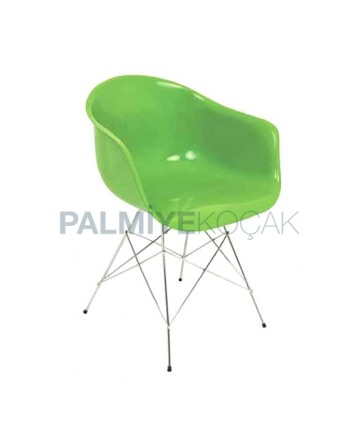 Metal Leg Fiber Chair with Arm