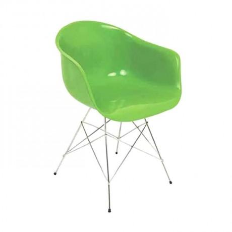 Kollu Metal Ayaklı Fiber Sandalye - fsa7455