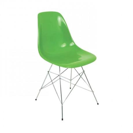 Yeşil Fiber Metal Ayaklı Sandalye - fsa7450