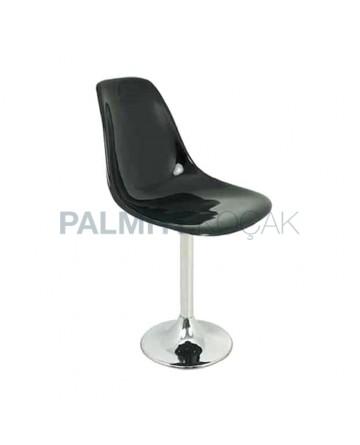 Black Fiber Chair with Round Leg