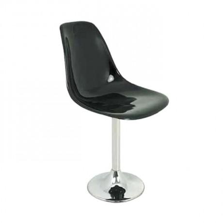 Yuvarlak Ayaklı Siyah Fiber Sandalye - fsa7453