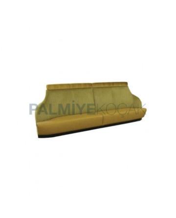 Peanut Green Fabric Leather Upholstered Restaurant Loca