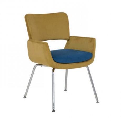 Fıstık Yeşil Kumaş Döşemeli Boru Ayaklı Sandalye - psd283