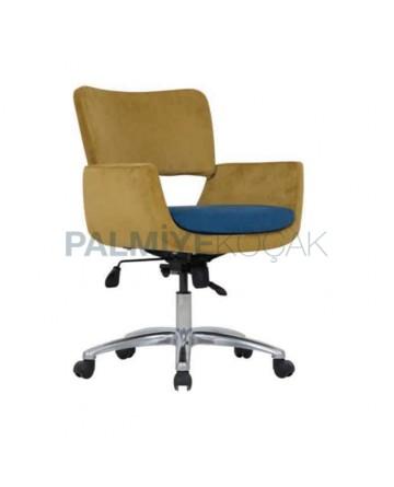 Pistachio Green Fabric Cushioned Polyurethane Chair