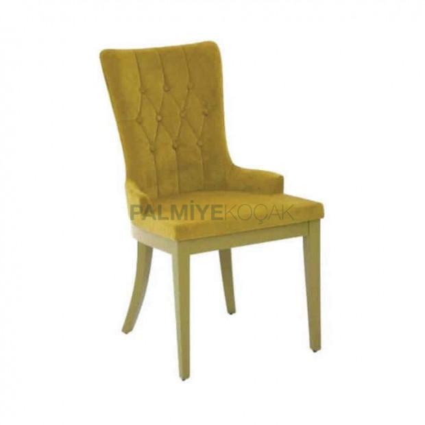 Fıstık Yeşil Kumaş Döşemeli Poliüretan Sandalye