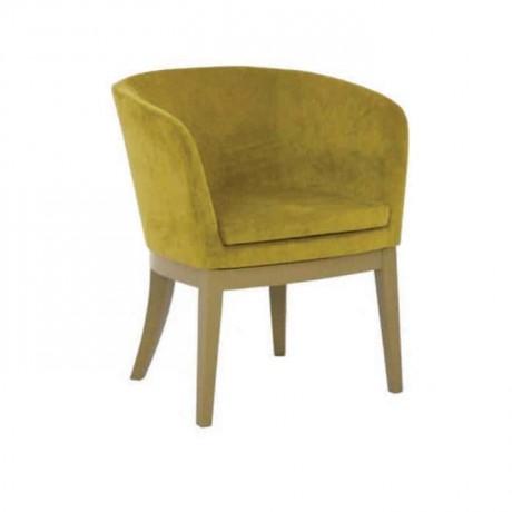 Fıstık Yeşil Kumaşlı Kollu Cafe Sandalyesi - psa650