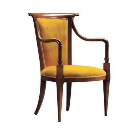 Gold Kumaş Döşemeli Klasik Kollu Sandalye - ksak30