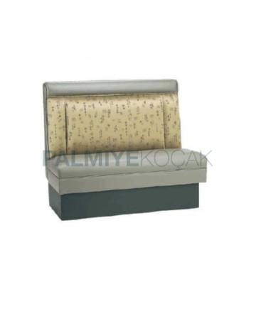 Gray Leather Upholstered Restaurant-Lounge