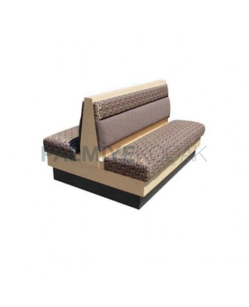 Gray Leather Upholstered Two Sided Wooden Loca