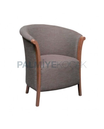 Gray Fabric Wooden Painted Chair