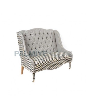 Gray Fabric Upholstered Hotel Couch