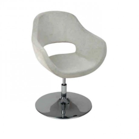 Gray Fabric Upholstered Polyurethane Stainless Steel Leg Arm Chair - psd259