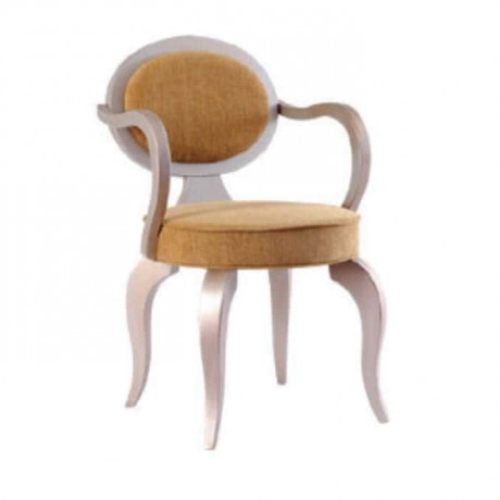 Hardal Kumaş Döşemeli Kollu Sandalye - ksak19