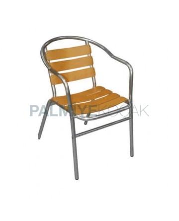 Iroko Aluminum Armchair