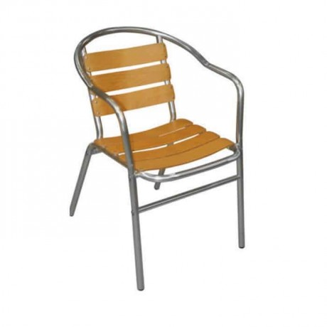 İroko Kollu Alüminyum Sandalye - alb11