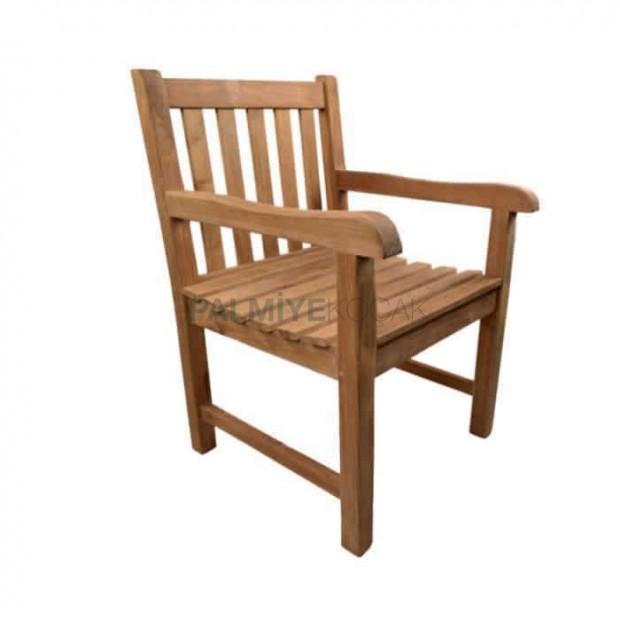 İroko Kollu Bahçe Sandalyesi