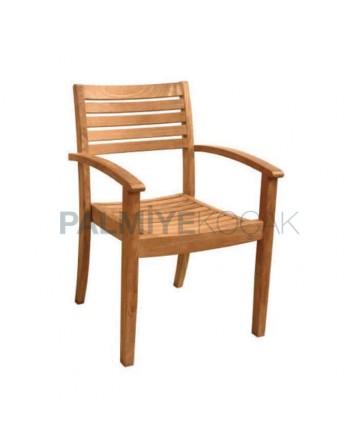 İroko Kollu Hotel Sandalyesi