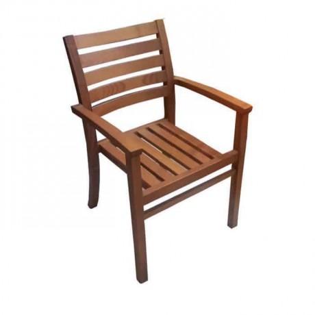 İroko Kollu Otel Bahçe Sandalyesi - itk2025