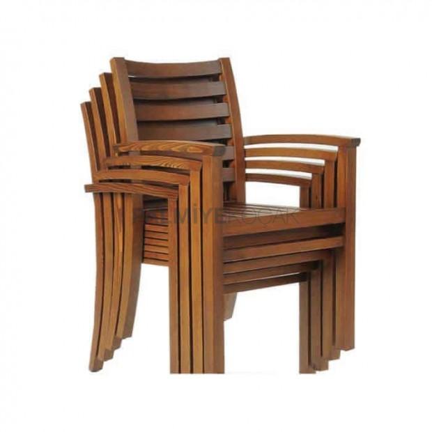 İroko Kollu Restaurant Bahçe Sandalyesi