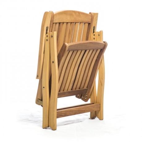 İroko Katlanır Kollu Otel Restoranı Sandalyesi - btk2035