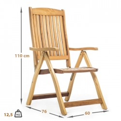 Iroko Folding Hotel Restaurant Arm Chair