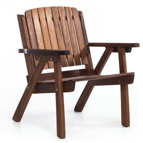 İroko Kollu Otel Bahçe Sandalyesi - itk2027a