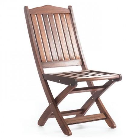 Iroko Terrace Armless Chair