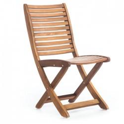 Folding Cafe Iroko Armless Chair