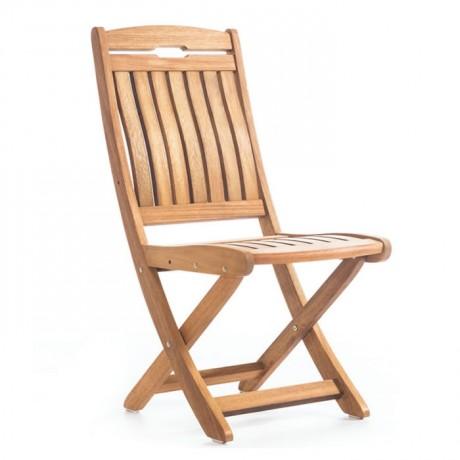 Ortopedik Sırtlı Katlanır İroko Sandalye - btk2030