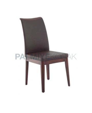 Brown Leather Polyurethane Chair