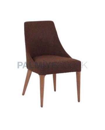 Brown Upholstered Polyurethane Chair