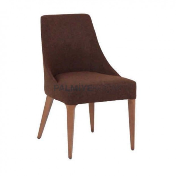 Brown Upholstered Polyurethane Chair